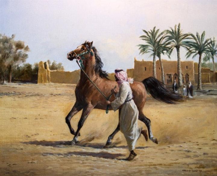 Harold painted for the Saudi Arabian Royal Family Pic: Mutual Art