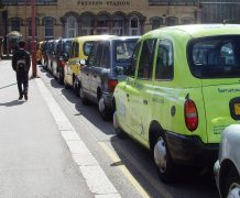 Taxi rank at Preston Station Pic: tony Worrall