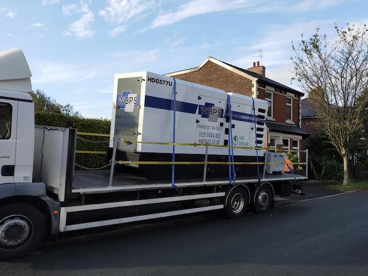 Back up generator in Fuwlood Pic: Blog Preston