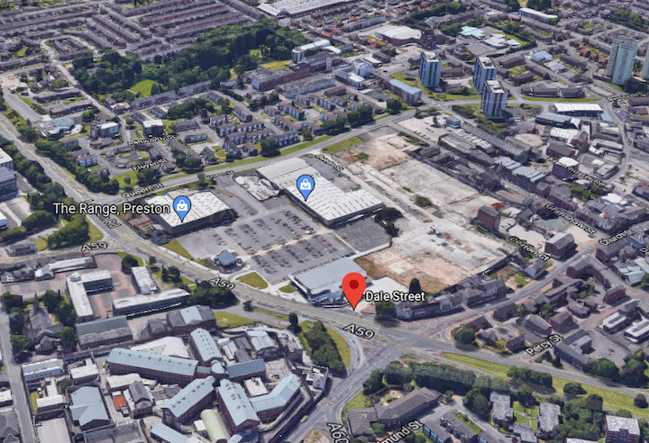 Horrocks complex site today Pic: Google Maps