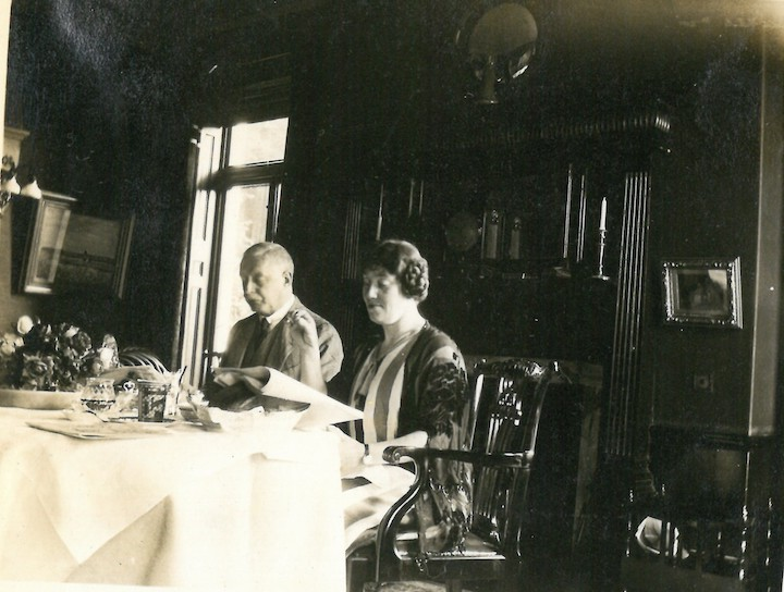 James and Beatrice Todd in dining room