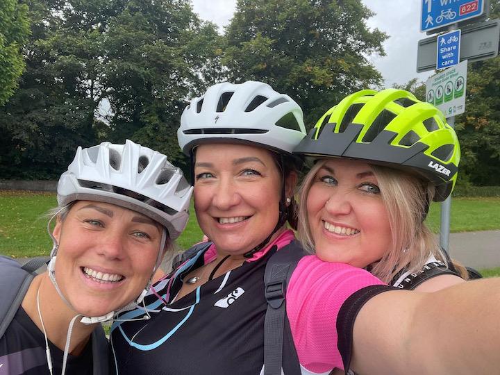 Mental Health Miles cyclists