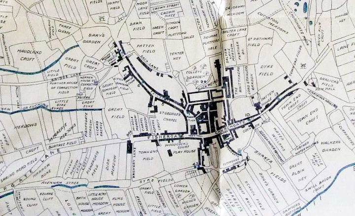 Old map of Preston Pic: Preston Digital Archive