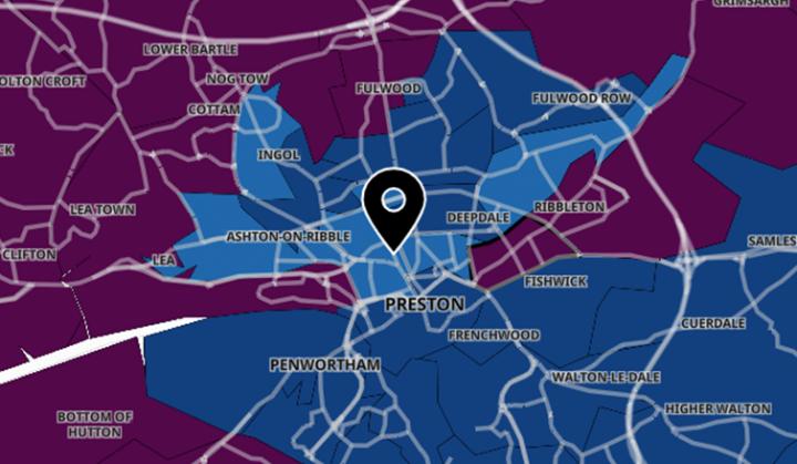 Latest Covid stats map.