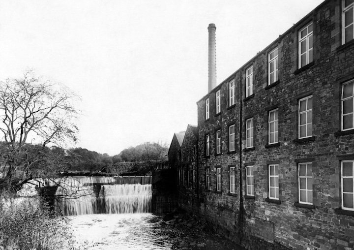 Roach Bridge factory near Samlesbury Pic: View From The North