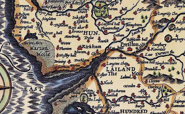 17th century map of the Fylde coast Pic: John Speed