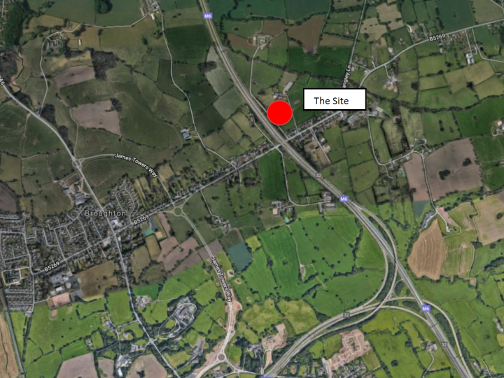 Map showing the location of the site