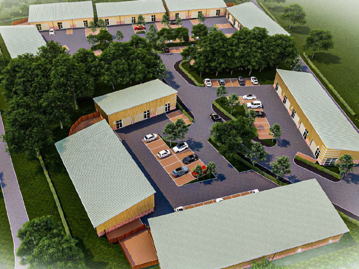 Artist's impression of the aerial view of the proposed business park Pic: MCK