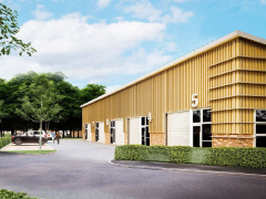 Artist's impression of the proposed business park Pic: MCK