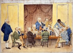 Painting of Joseph Emidy playing for the aristocracy