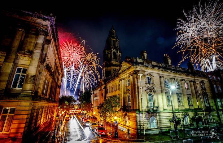 The event culminated with a 10-minute fireworks display Pic: Michael Porter Photography