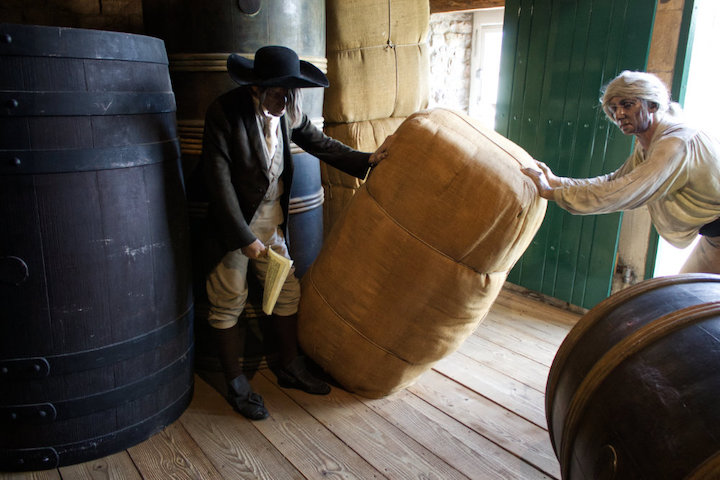 Rum and cotton are unloaded in Lancaster Pic: Geoffrey Whittaker