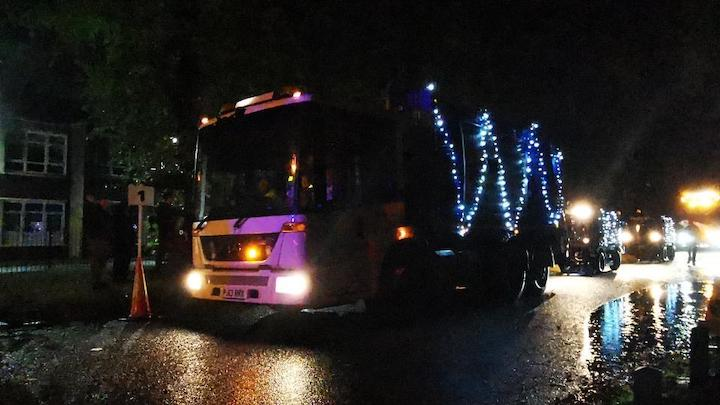 Some participants were in decorated vehicles Pic: Crispin Robinson